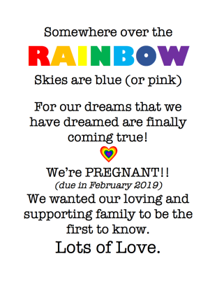 Rainbow Announcement (bowthorpe)